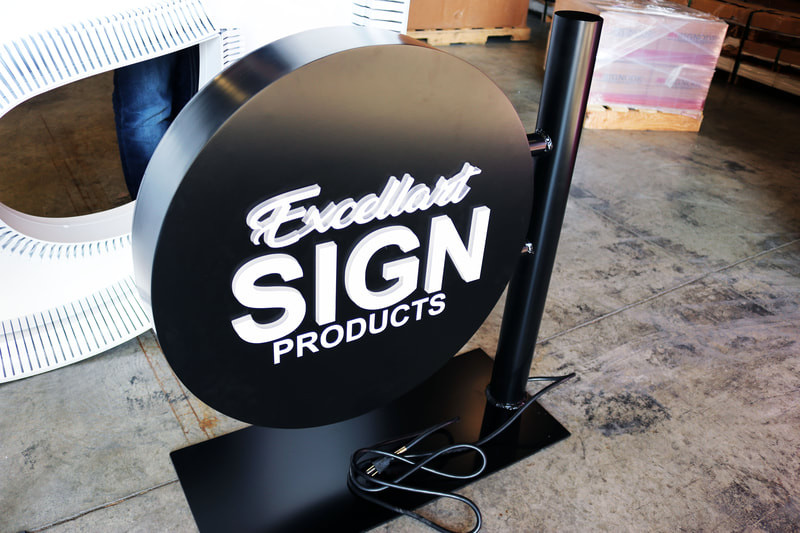 Raised Illuminated Face Excellart Sign Kerf Cutting