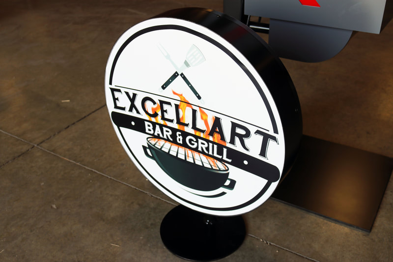 Excellart BBQ Sign Kerf Cutting
