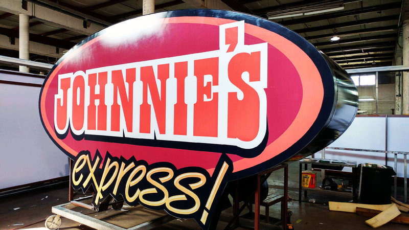 Johnnie's Express Sign Kerf Cutting
